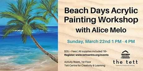 Beach Days Acrylic Painting Workshop tickets