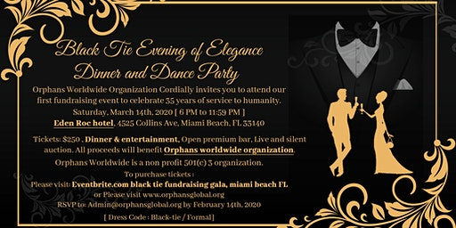 Black Tie Fundraising Gala, Miami Beach FL, March 14th, 2020