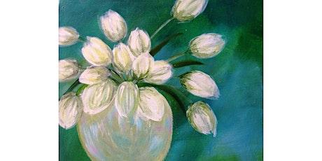 "3/17 - Corks and Canvas Event @ Fletcher Bay Winery, BAINBRIDGE ""Tulips on Green"" tickets"