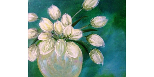 "3/17 - Corks and Canvas Event @ Fletcher Bay Winery, BAINBRIDGE ""Tulips on Green"""