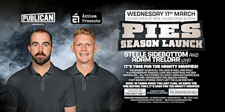 Pies Season Launch with Sidebottom and Treloar at Publican, Mornington! tickets