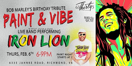 "Bob Marley Tribute ""Paint & Vibe"""