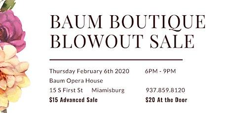 Baum Boutique Blowout Sale tickets