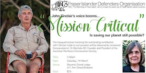 The John Sinclair Memorial Lecture