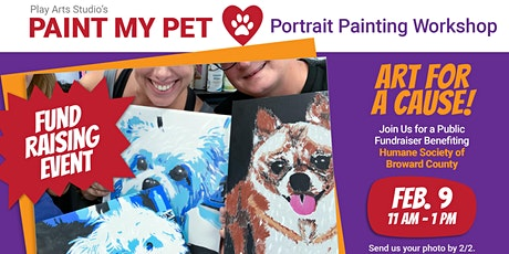 Paint My Pet Painting Workshop Benefiting Humane Society of Broward tickets