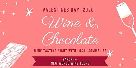 Valentines Day Wine + Chocolate Pairing Evening tickets