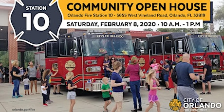 Community Open House at Orlando Fire Station 10 tickets