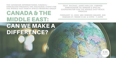 Canada & the Middle East: Can We Make a Difference? tickets