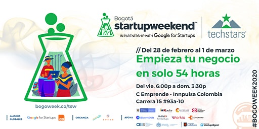 Techstars Startup Weekend Bogotá 02/28
