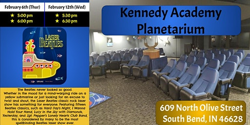 Kennedy Planetarium - Beatles Laser Light Show - 4 Available Showtimes