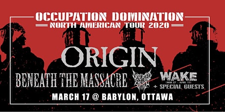 Origin, Beneath the Massacre, Defeated Sanity tickets