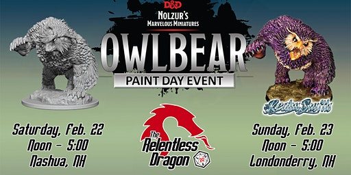 Owlbear Paint Day Event - Nashua