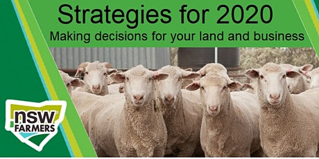 'Strategies for 2020' Making decisions for your land and business tickets