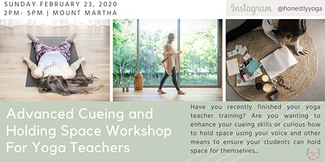 Holding Space and Cueing Workshop for Yoga Teachers tickets