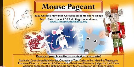 """""""Mouse Pageant"""" at the 2020 Chinese New Year Celebration at Hillsboro Villa"""