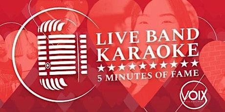 Fri 2/14 - VALENTINE'S DAY Live Band Karaoke at VOIX tickets