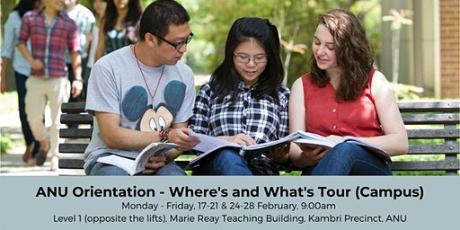 ANU Orientation - Where's & What's Tour (Campus)