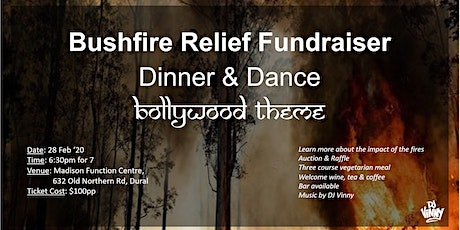 Bushfire Relief Fundraiser - Bollywood Dinner and Dance tickets