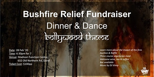 Bushfire Relief Fundraiser - Bollywood Dinner and Dance