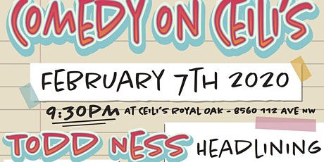 Comedy on Ceili's: Featuring Todd Ness tickets