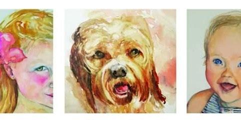 Watercolour Portrait on Canvas Workshop