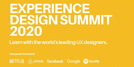 Experience Design Summit 2020 tickets