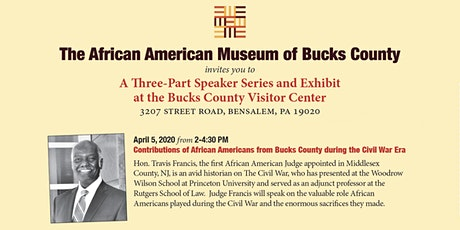 Contributions of African Americans from Bucks County during the Civil War Era tickets
