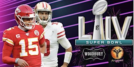 Super Bowl LIV Watch Party at Woodbury + Alchemist tickets