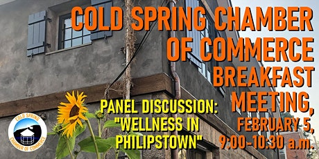 """Cold Spring Chamber of Commerce Feb. Breakfast, """"Wellness in Philipstown"""" tickets"""