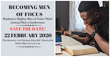Becoming Men of Focus | Madison's Mighty Men of Valor Men's Conference