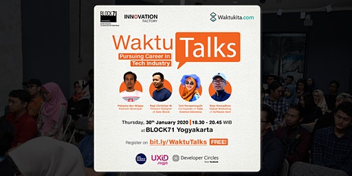 Waktu Talks: Pursuing Career in Tech Industry
