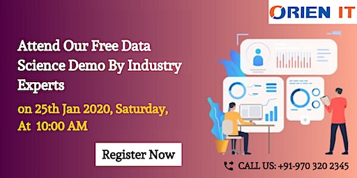 Attend Demo On Data Science By Veteran Data Scientist On 25th Jan @ 10 AM