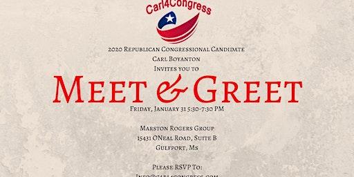 Meet & Greet Carl Boyanton - Candidate for US Congress (MS-4)