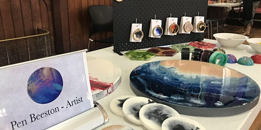 Resin Painting Workshop - 40cm Platter or Wall Hanging