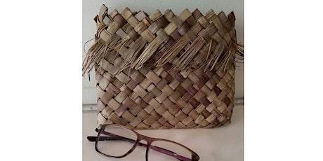 Royal Park Fibresmiths - flat tabby weave purse. tickets
