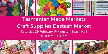 Tasmanian Made Craft Supplies Destash Market tickets