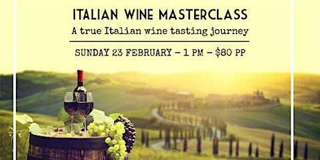 Italian Wine Masterclass tickets