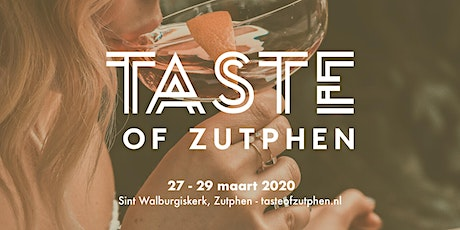 Taste of Zutphen tickets