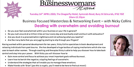The Business Womans Network - Business Focused Masterclass and Networking Event tickets