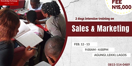 2 DAYS INTENSIVE TRAINING ON SALES & MARKETING tickets