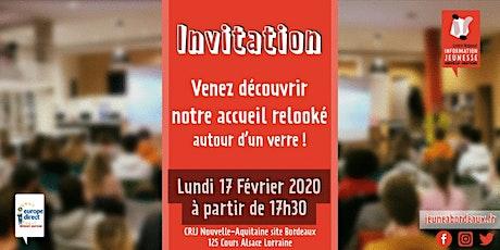 Inauguration accueil CRIJ Nouvelle-Aquitaine Bordeaux tickets