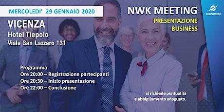 MEETING PRESENTAZIONE BUSINESS - NEWORKOM COMMUNITY - VICENZA biglietti