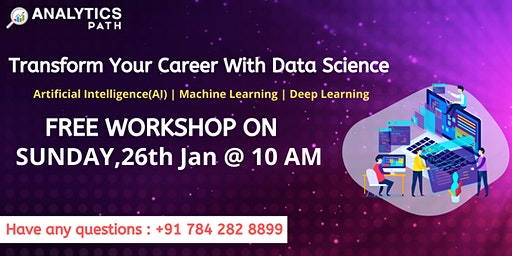 Join Us For Free Data Science Workshop By IIT&IIM Experts at Analytics Path