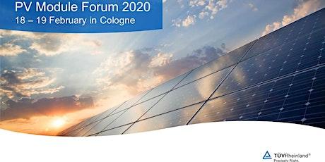PV Module Forum 2020 Tickets