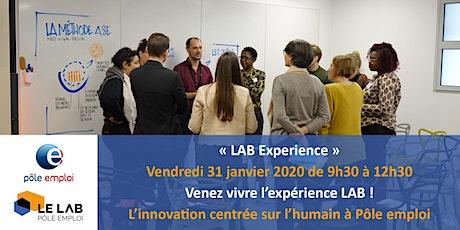 """""""LAB Experience"""" au LAB national de Pôle emploi - Vendredi 31 Janvier 2020 billets"""
