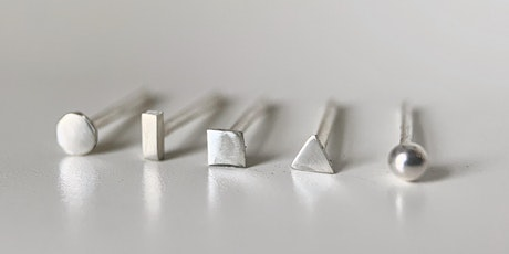 Silversmithing Earring Studs - June 27th tickets