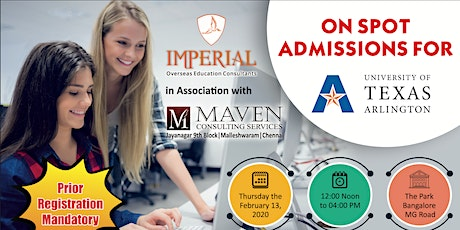 On Spot Admission by University of Texas at Arlington tickets