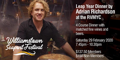 Leap Year Dinner by Adrian Richardson at the RVMYC tickets
