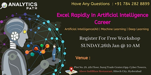 Book Your Seat For AI Free Interactive Workshop Session On 26th Jan, 2020