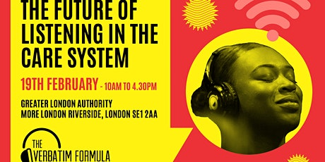 The Future of Listening in the Care System - The Verbatim Formula tickets